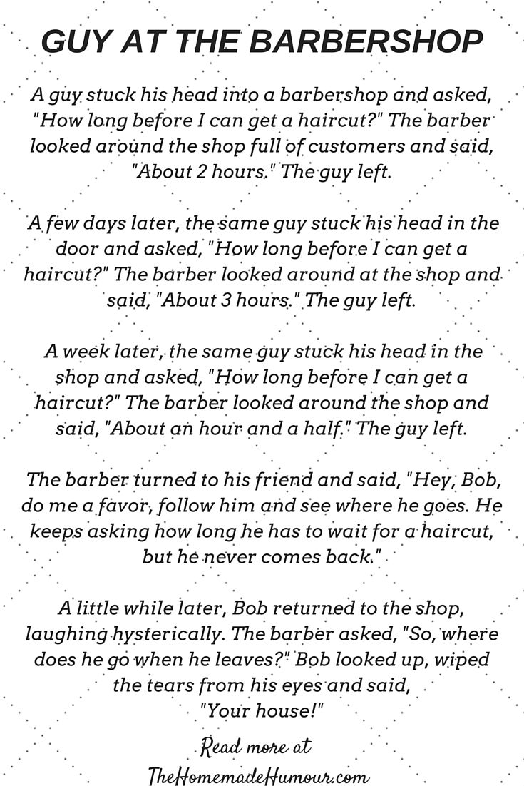 The Guy At The Barbershop A Short Funny Story  HumourSarcasm  Short funny stories Funny