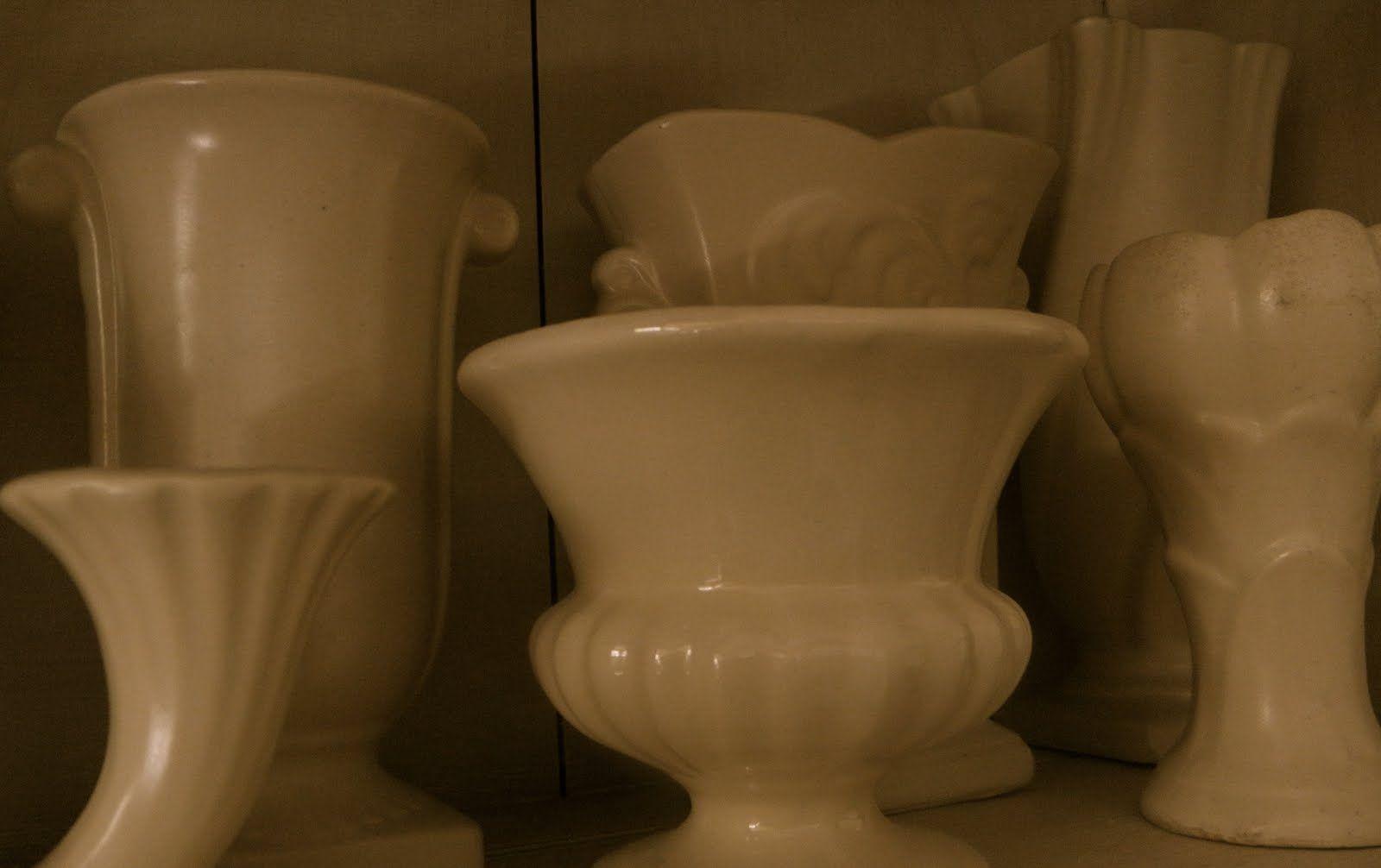 White vases mccoy fiestaware vintage pottery pinterest white vases floridaeventfo Choice Image