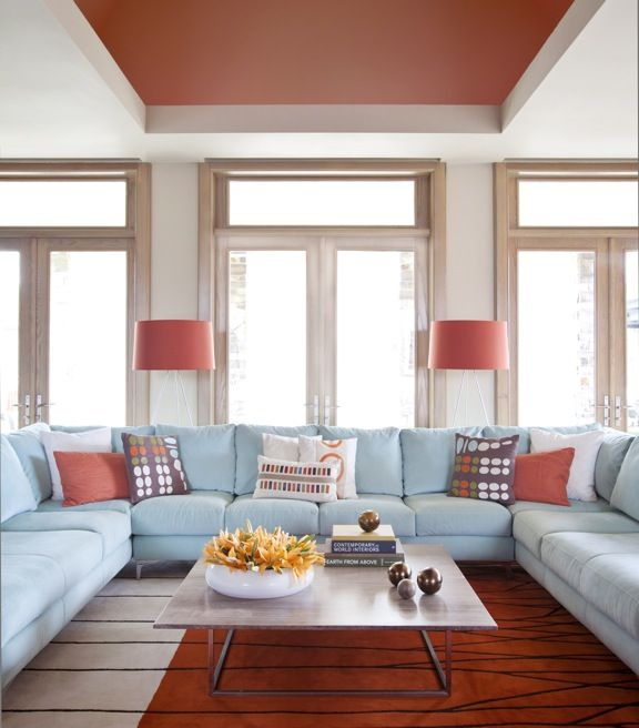 Large U Sectional Sofas: I Think We Could Live In A Great Room Like This. Large U
