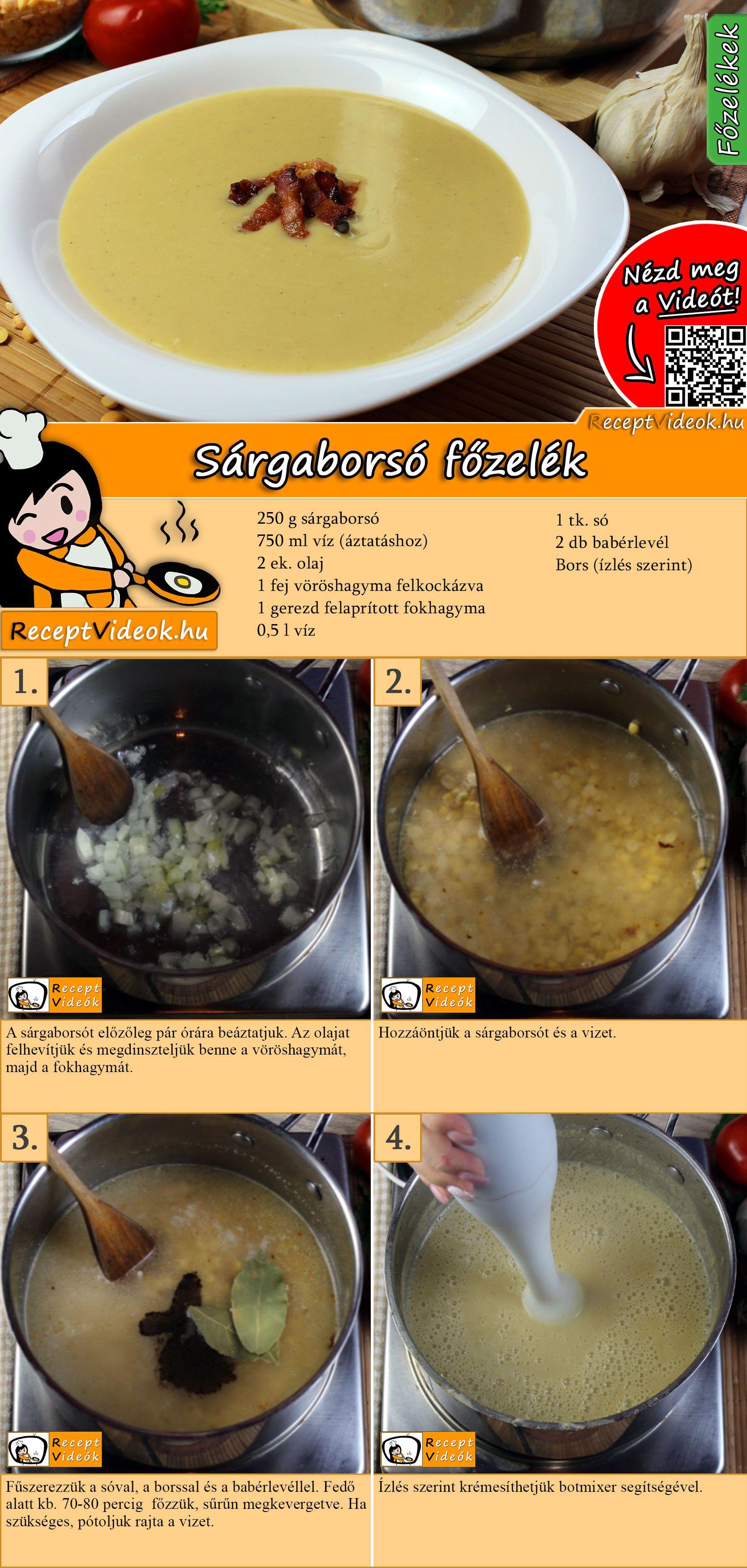 Klasszikus sárgaborsó főzelék recept