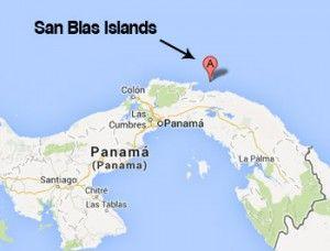 San Blas Islands Map San Blas Islands location world map   Travel   Island, Places to