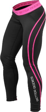 Better Bodies Women's Athlete Tights - Large Black/Pink - http://trolleytrends.com/health-fitness/better-bodies-womens-athlete-tights-large-blackpink