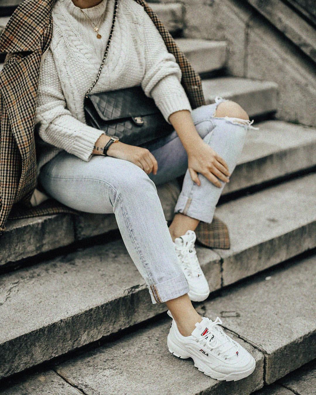 Fila Disruptor Outfit I R I A (@myblueberrynightsblog) en ...