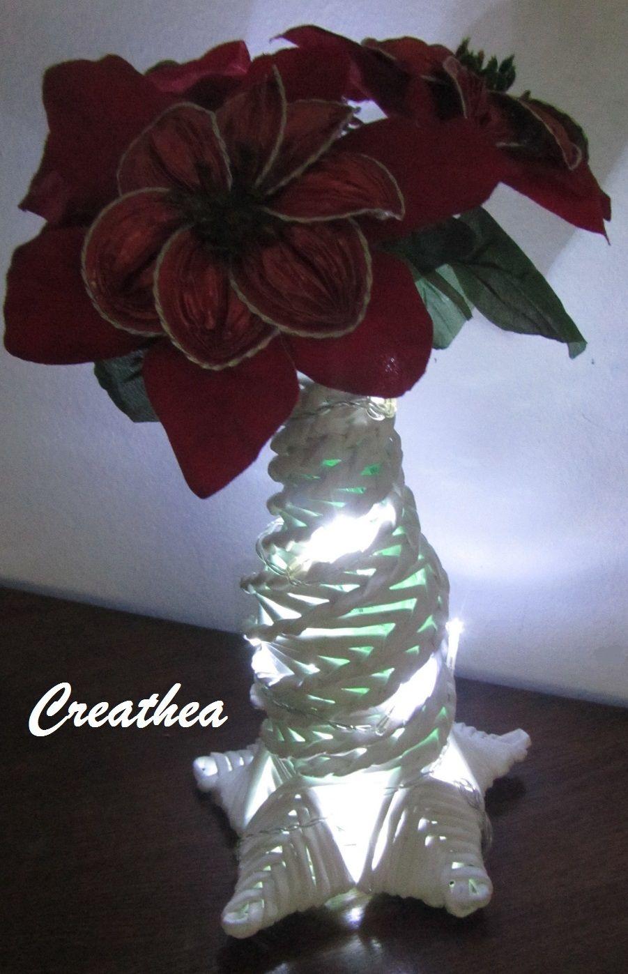 Stella di natale con le cialde di nespresso e vaso fatto for Porte 60 capsules nespresso