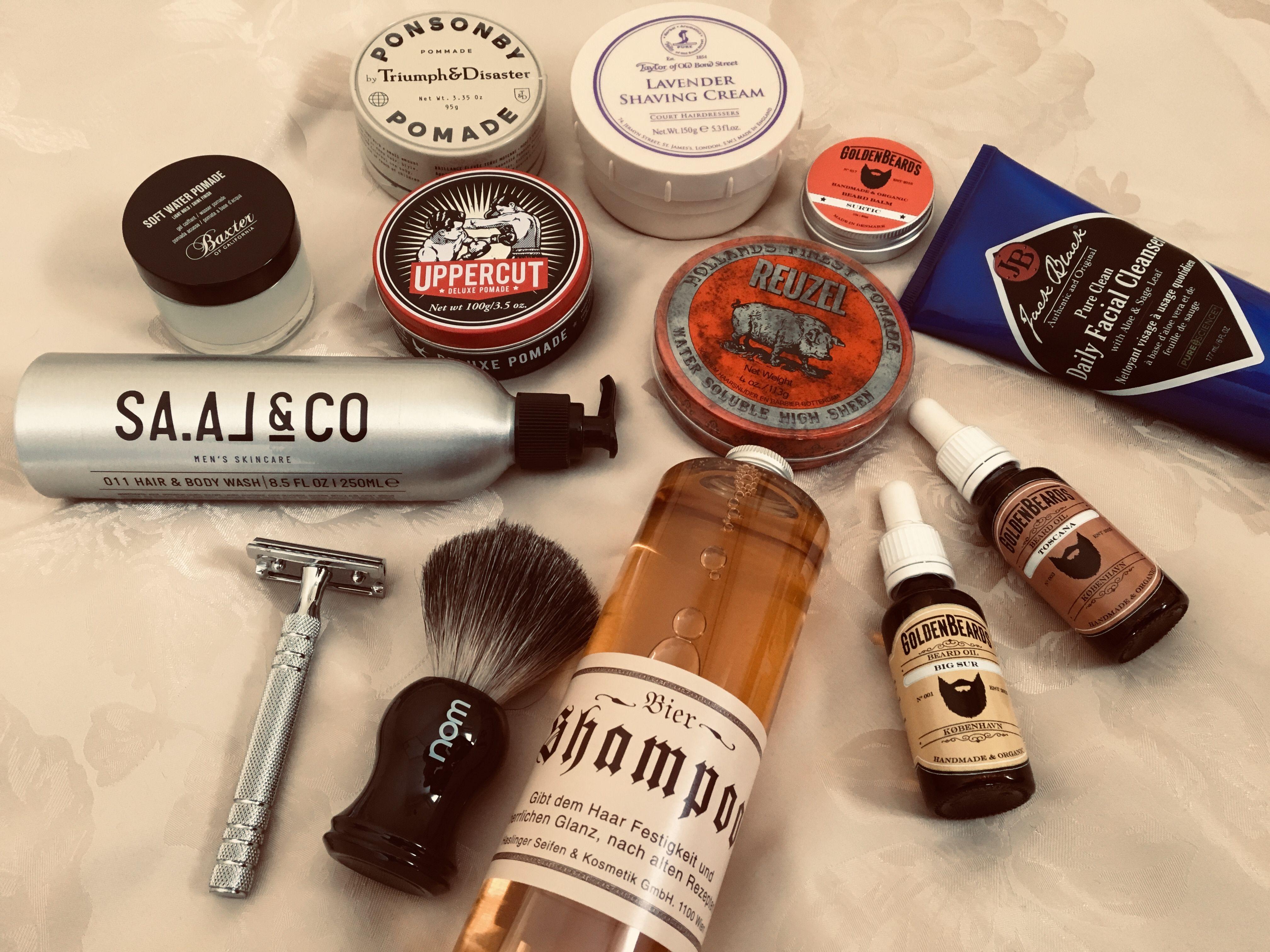 Productos para hombres exclusivos. Peinado, barba, afeitado