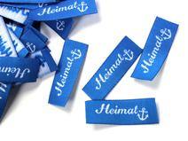 10 fertige Handmade Label Heimat - Anker