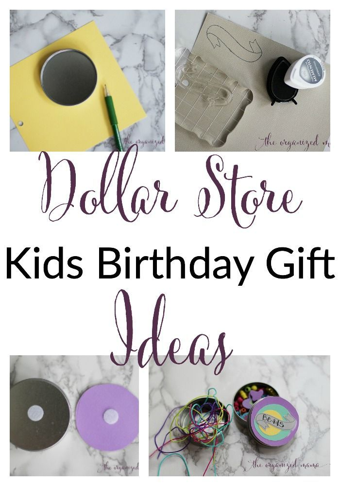 Diy dollar store kids birthday gift ideas dollar stores an easy way to create a customized diy dollar store kids birthday gift using tins paper and velcro that makes a special gift for the birthday child negle Image collections