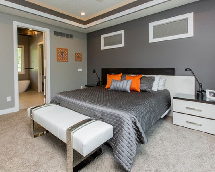 two tone bedroom wall paint ideas decorcraze com on wall color ideas id=37121