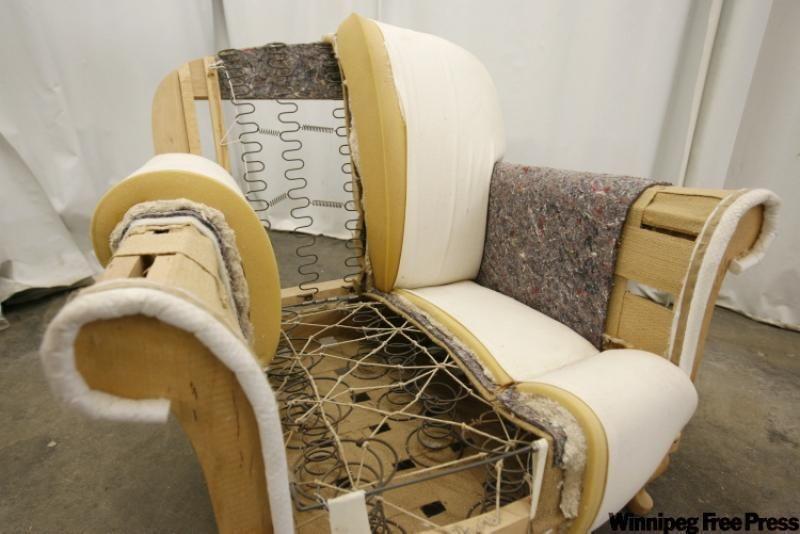 Elan Furniture Deconstructed Arm Chair Upholstery Tacks Repair