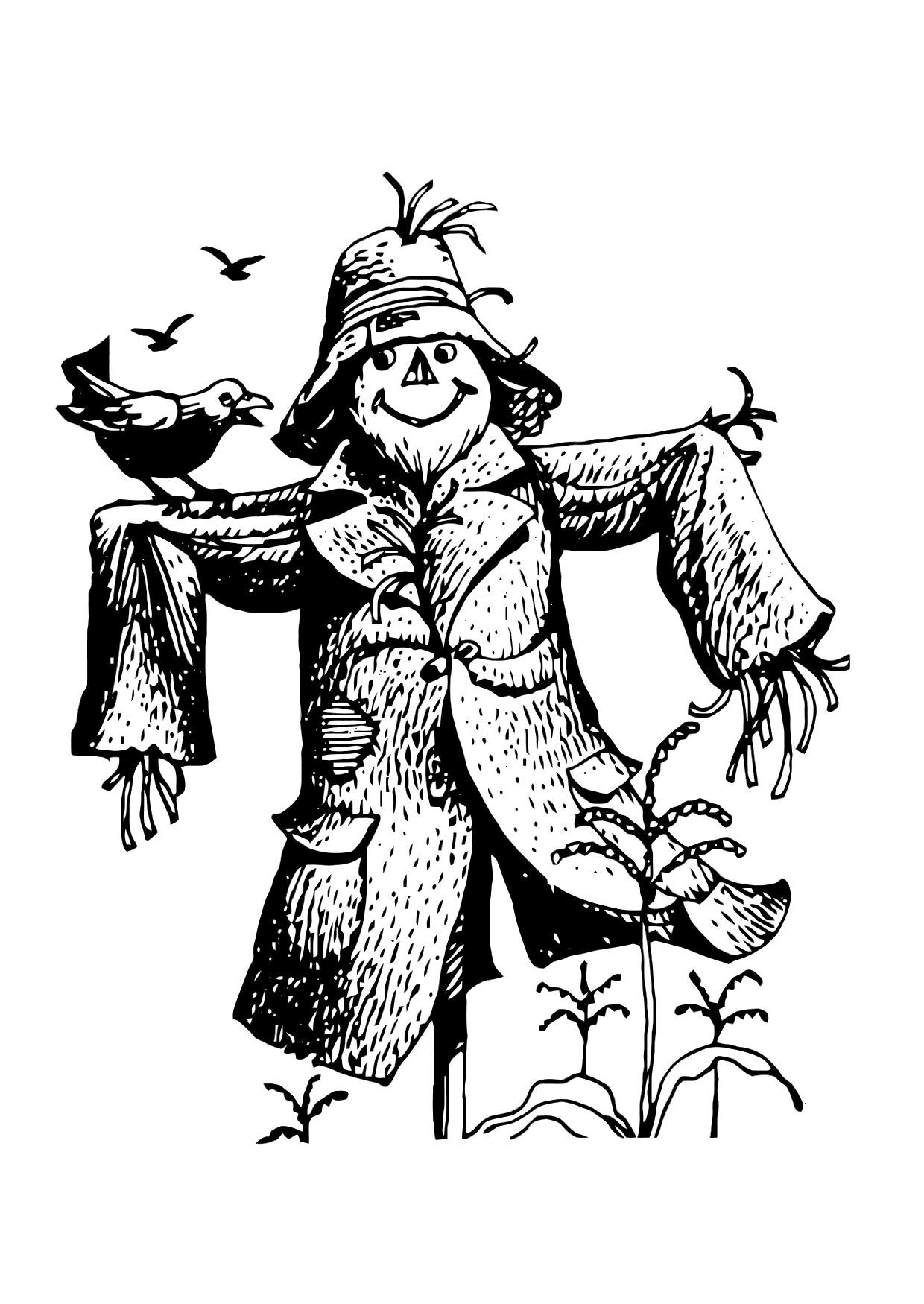 scarecrow coloring pages Google Search Coloring pages