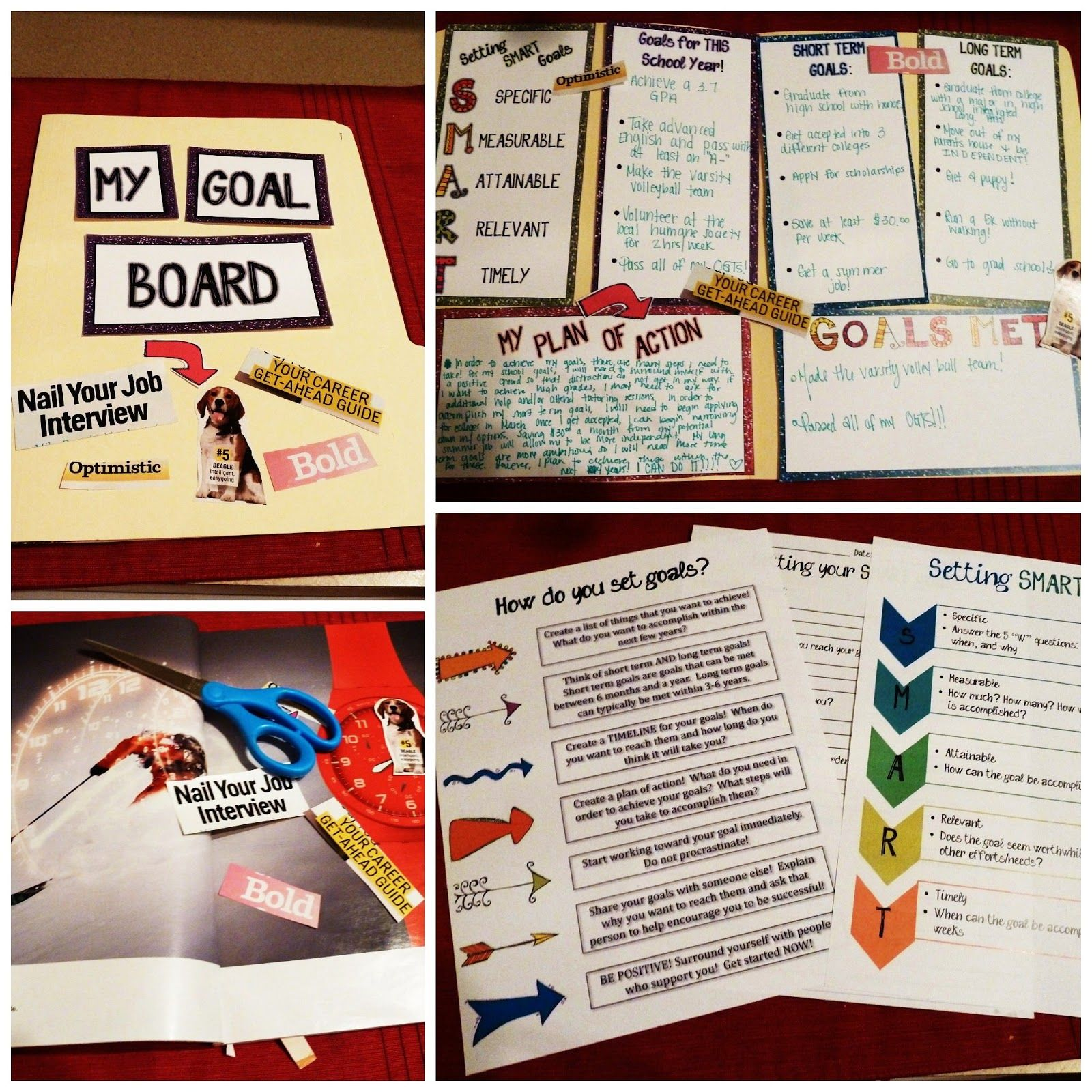 Goal Boards For Teens
