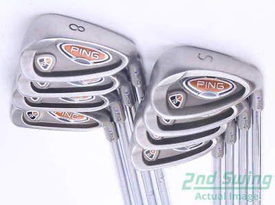 Ping i10 Iron Set 5-PW GW SW Steel Stiff Right Purple dot 37.5 in