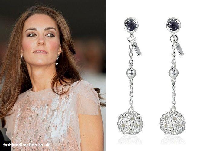 Kate Middleton Ss Of Cambridge Jewellery Pink Dress Links London Effervescence Bubble Stiletto Earrings