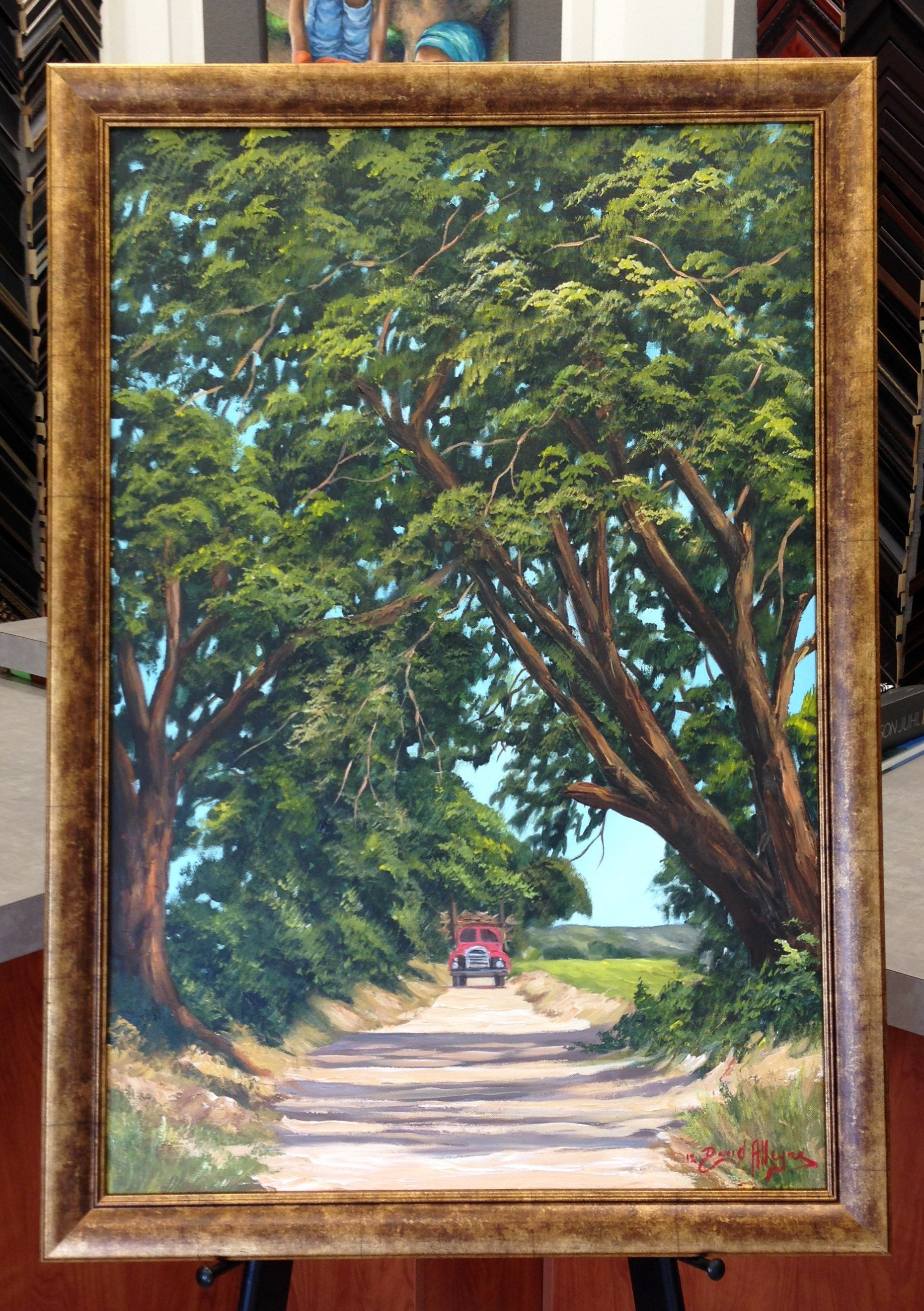 Original barbadian artist david alleyne framed in framerica verona original barbadian artist david alleyne framed in framerica verona vintage by the frame art co jeuxipadfo Gallery