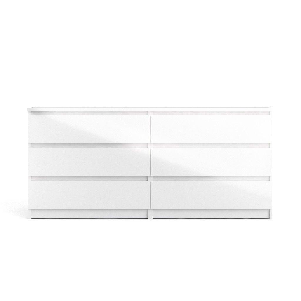 Scottsdale 6 Drawer Double Dresser In White High Gloss Tvilum 70296uu Double Dresser Tvilum Modern Dresser [ 1024 x 1024 Pixel ]