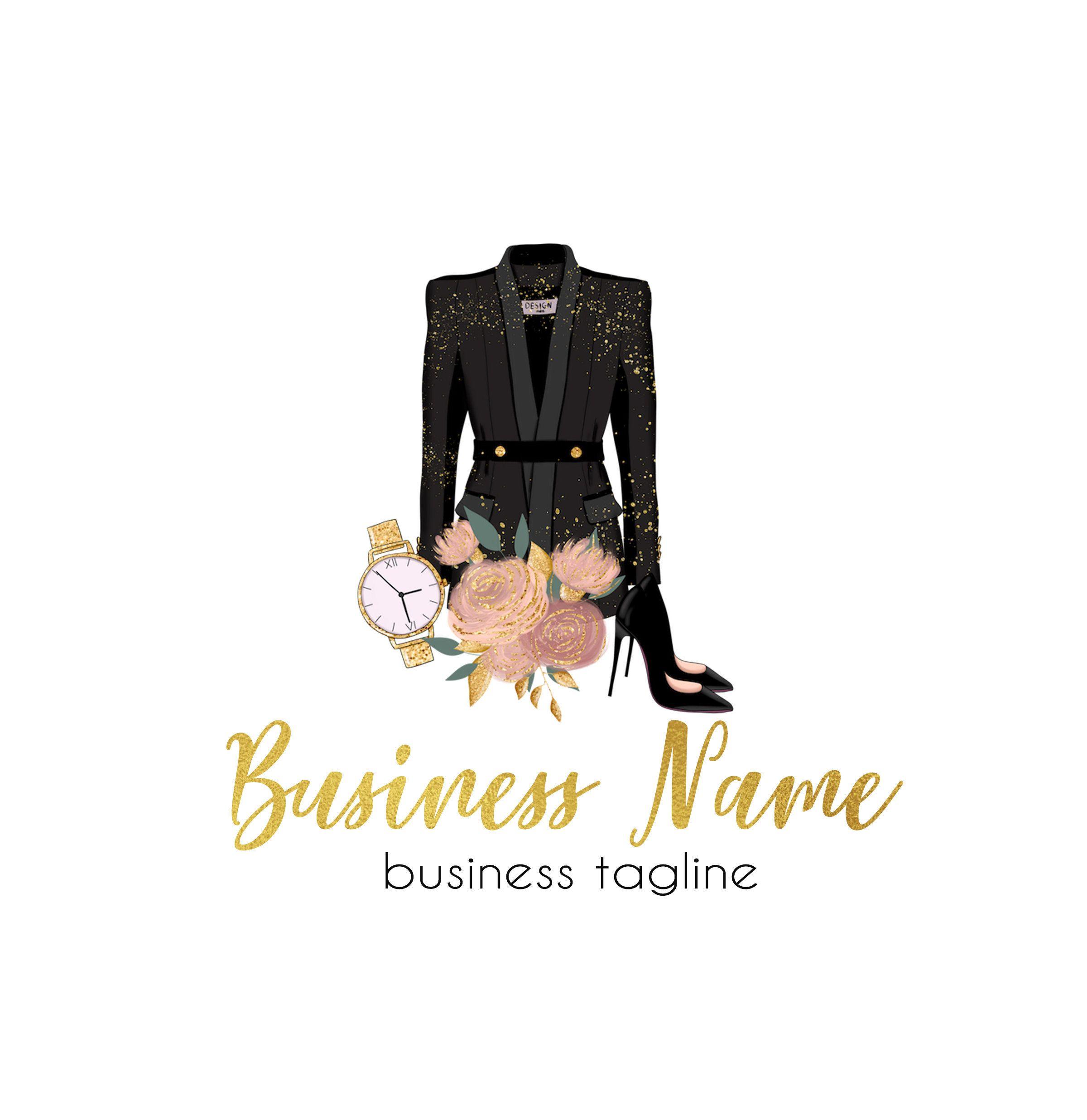 Boutique Logo, Fashion Logo, Logo Design, Clothes Logo