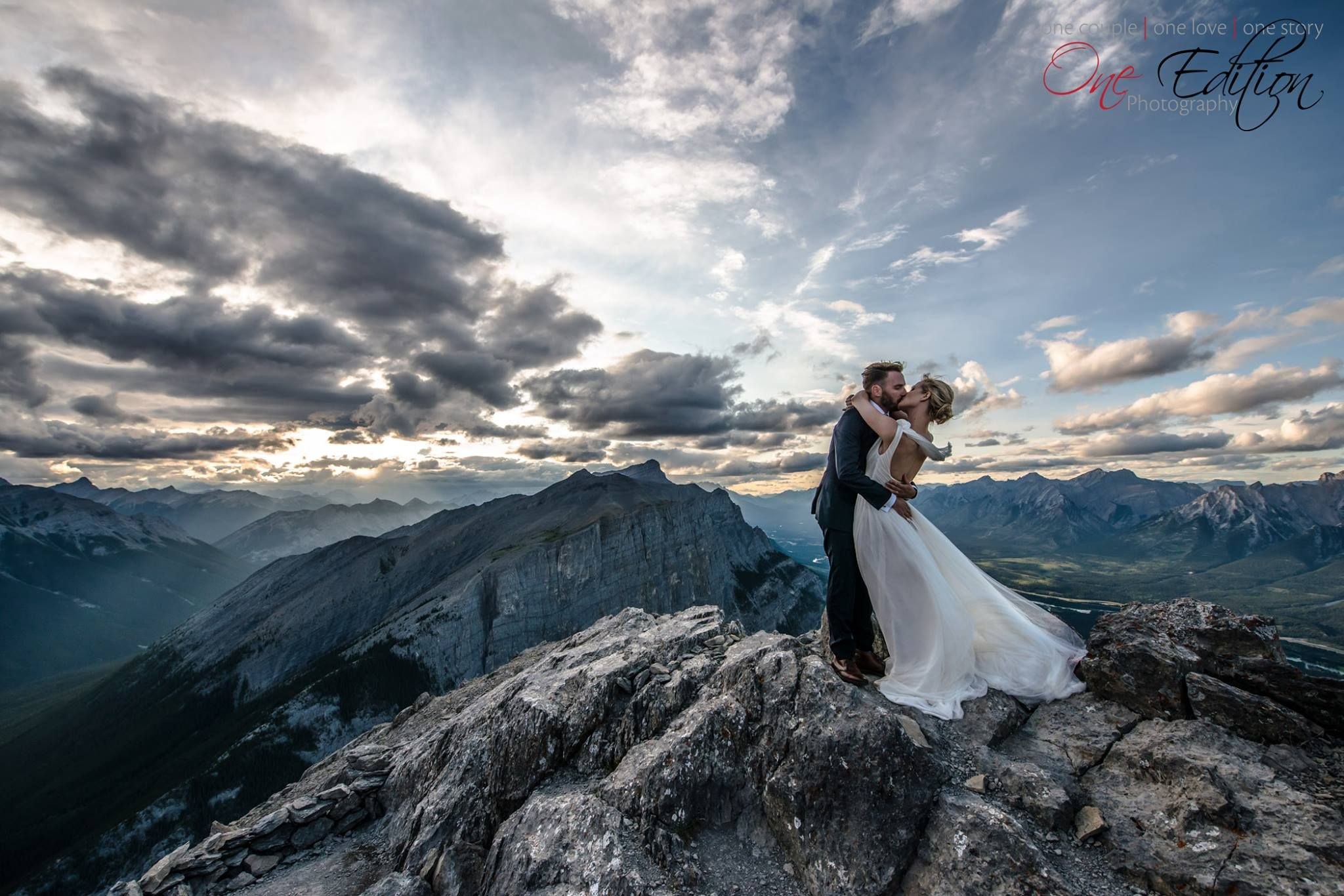 Beautiful Mountain Top Photoshoot With An Amazing Adventurous Canmore Weddings Photo By One Edition Photography