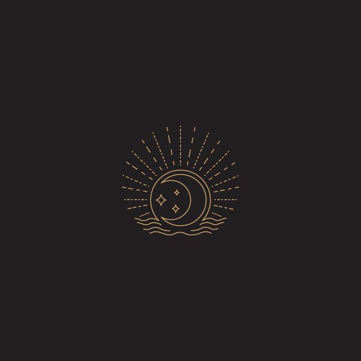Mond und Sterne Illustration. #tinaperkodesign #illustration #logomark #logo,  #Illustration …