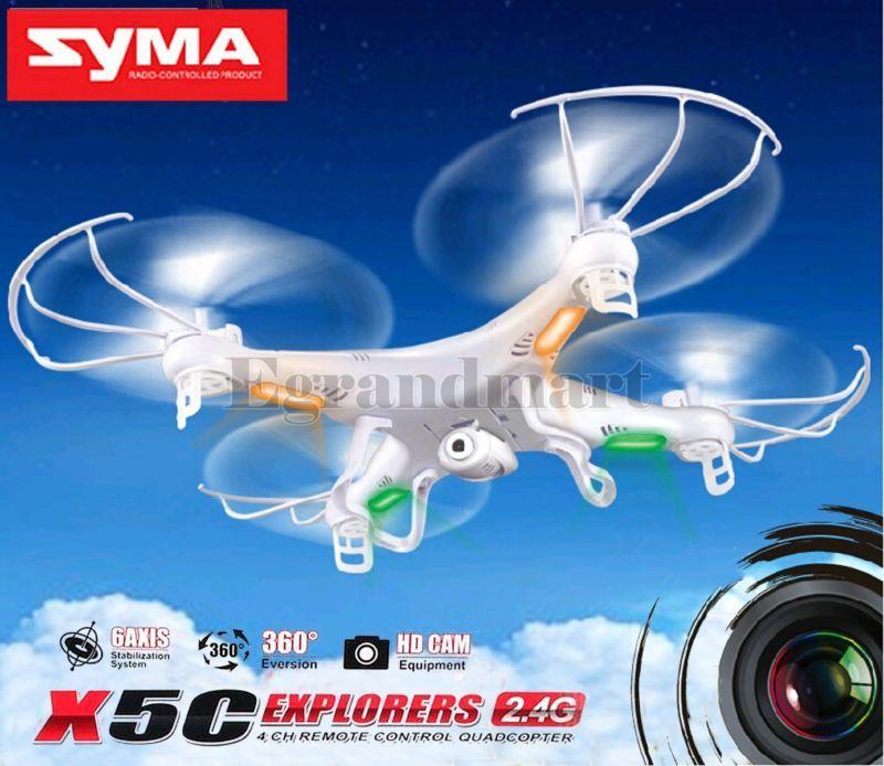 Syma X5C-1 Explorers 2.4G 4CH 6-Axis Gyro RC Quadcopter Drone HD Camera LCD RTF #ad