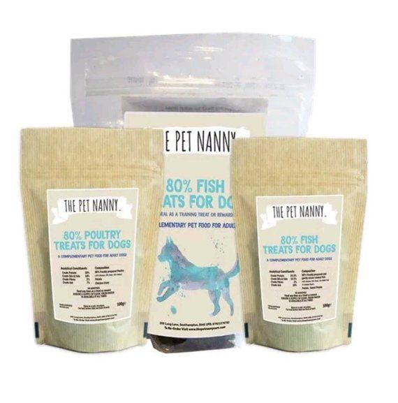 The Pet Nanny 80 Poultry Dog Puppy Training Treats 500g Free