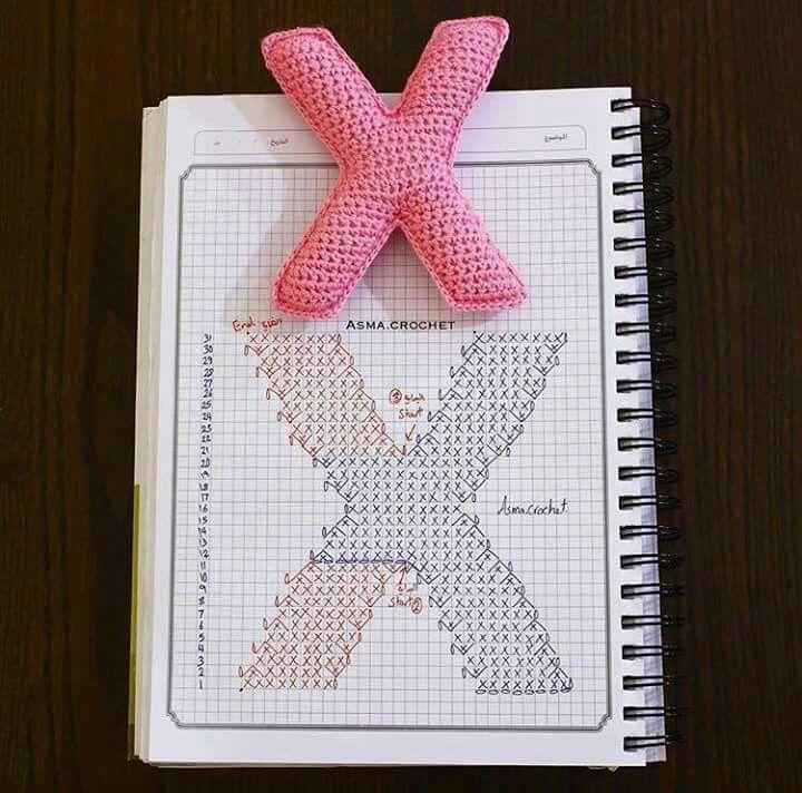 Pin de Claudia Martinez en crocheth | Pinterest | Abecedario y Letras
