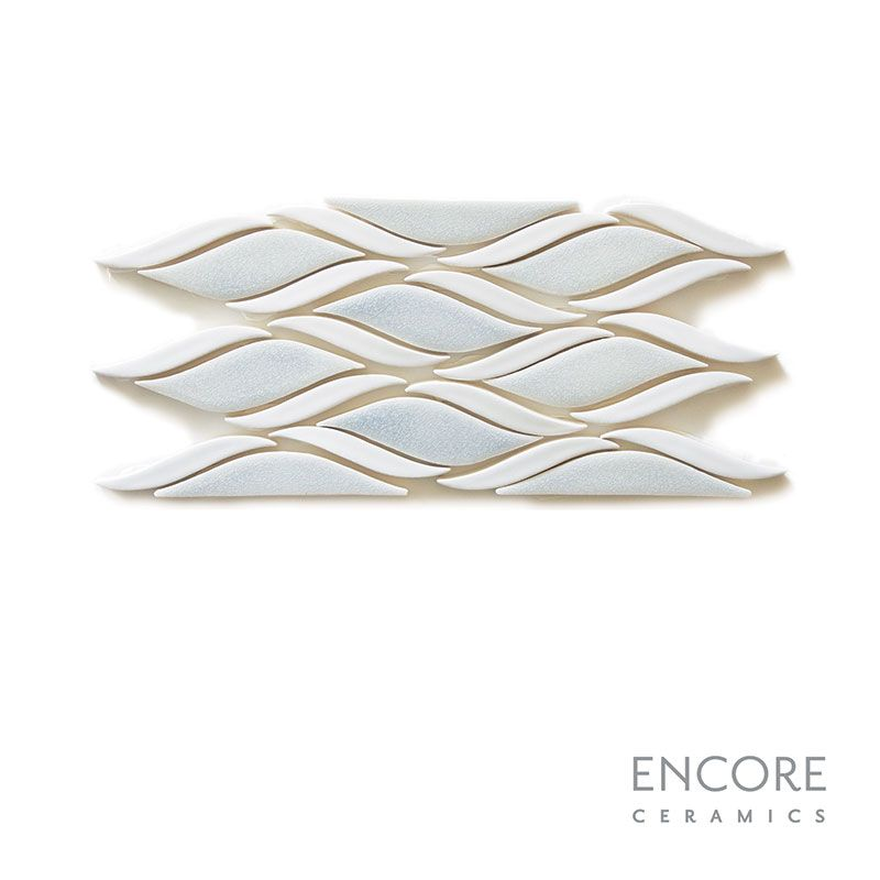Encore Ceramics | Knitted Tide mosaic border hand-glazed in Bali ...