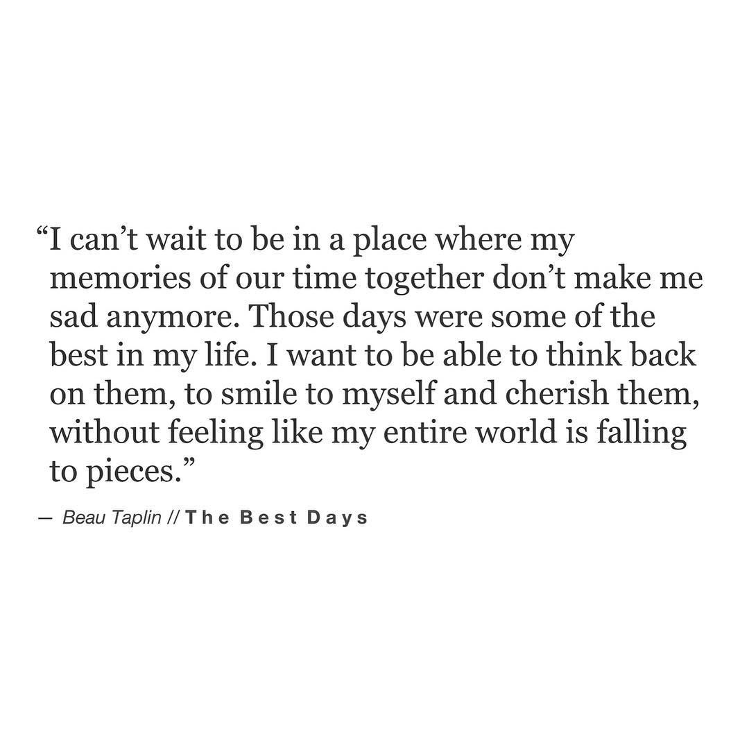 Because a memory should be a place you can visit safely. // my books Playing With Fire and The Wild Heart are available via the link on the home page xo Love Beau