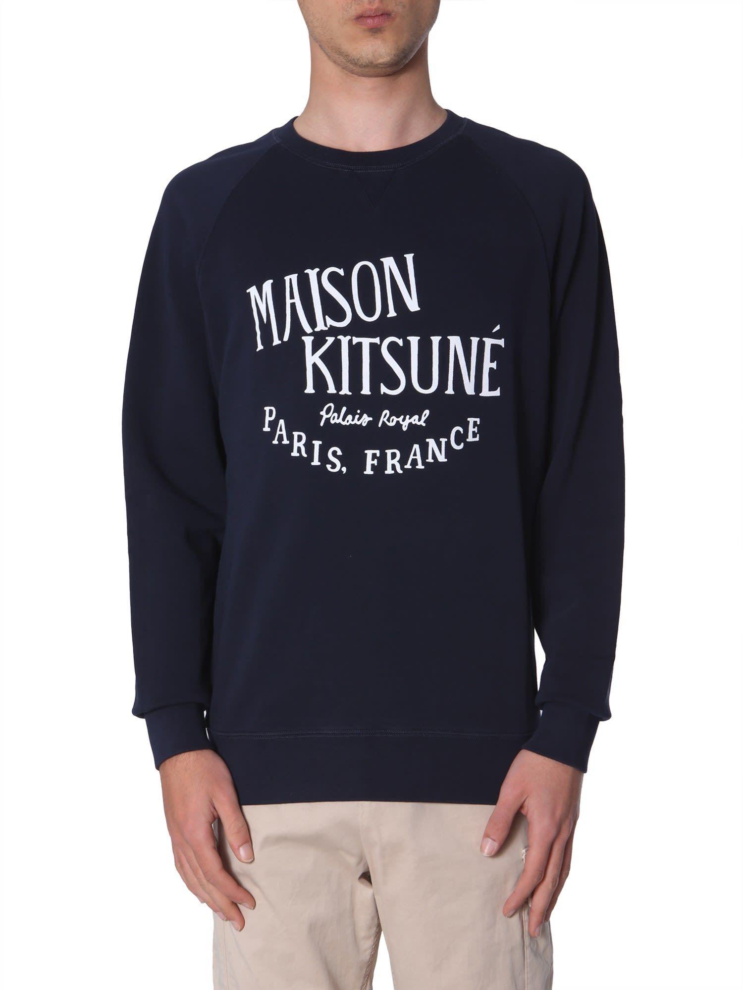 Maison Kitsune Palais Royal Print Sweatshirt Maisonkitsune Cloth Printed Sweatshirts Sweatshirts Maison Kitsune [ 2000 x 1500 Pixel ]