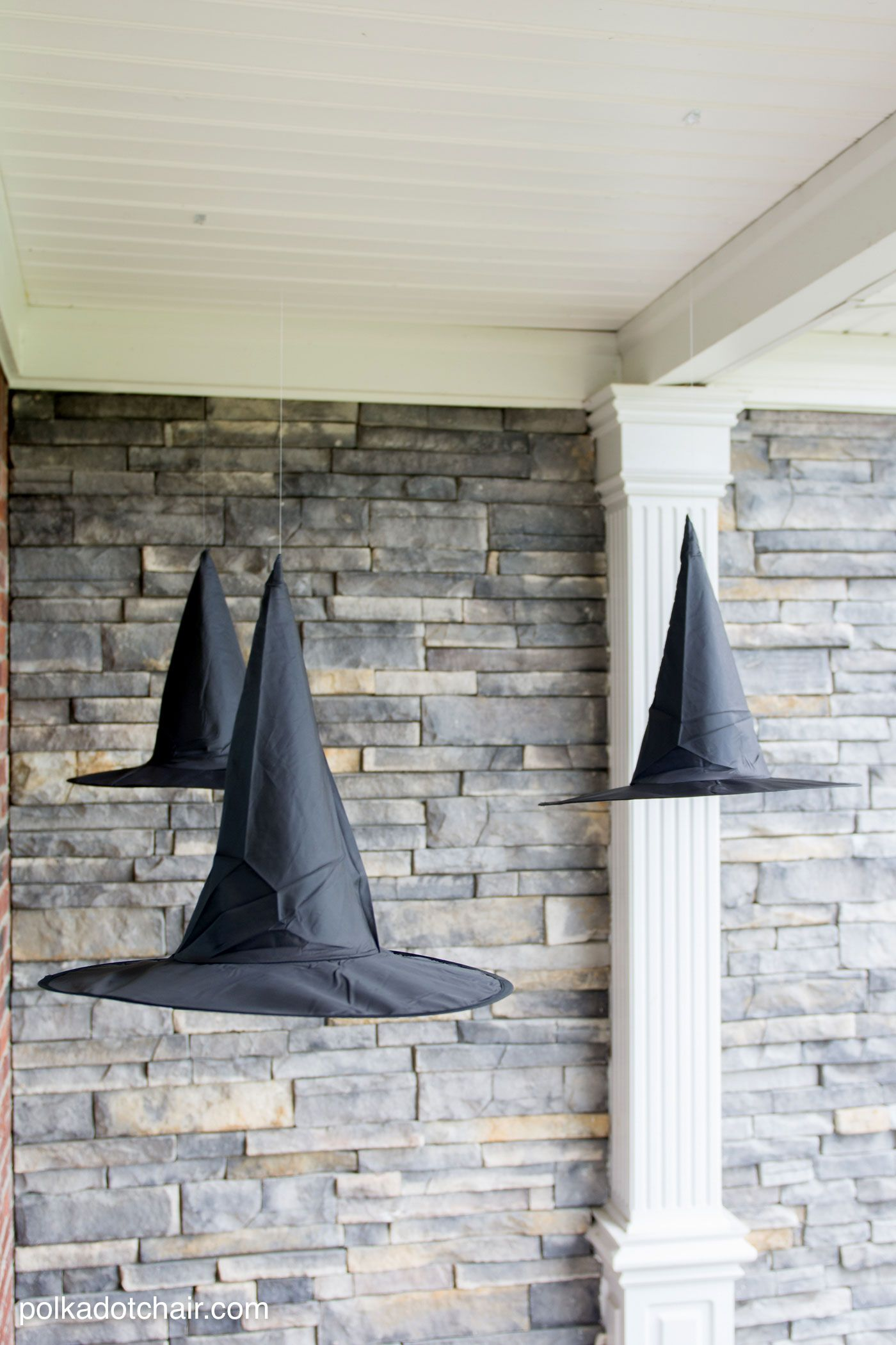 Witch Decorating Diy Floating Witch Hat Luminaries Porch Lights And Holidays
