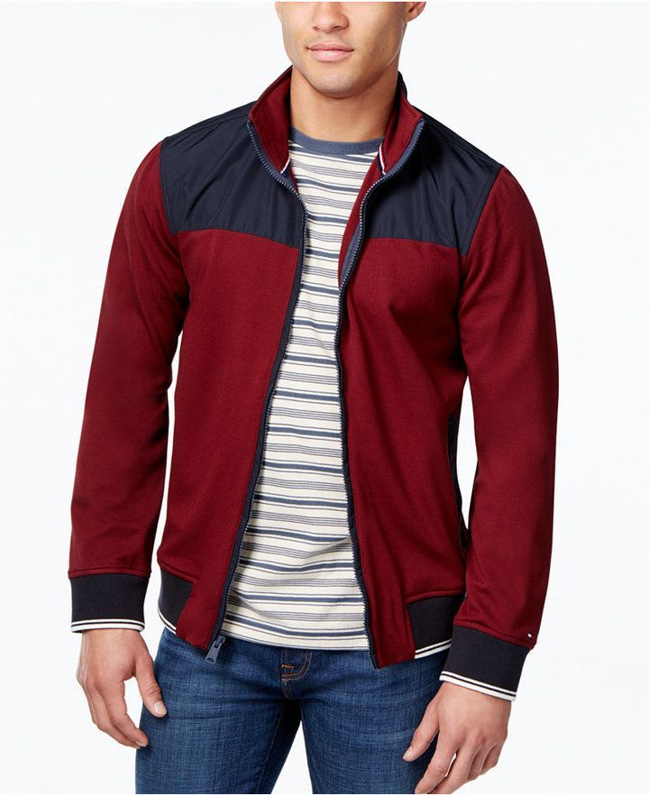 77154b9df34 Tommy Hilfiger Men s Tori Colorblocked Knit Bomber Jacket