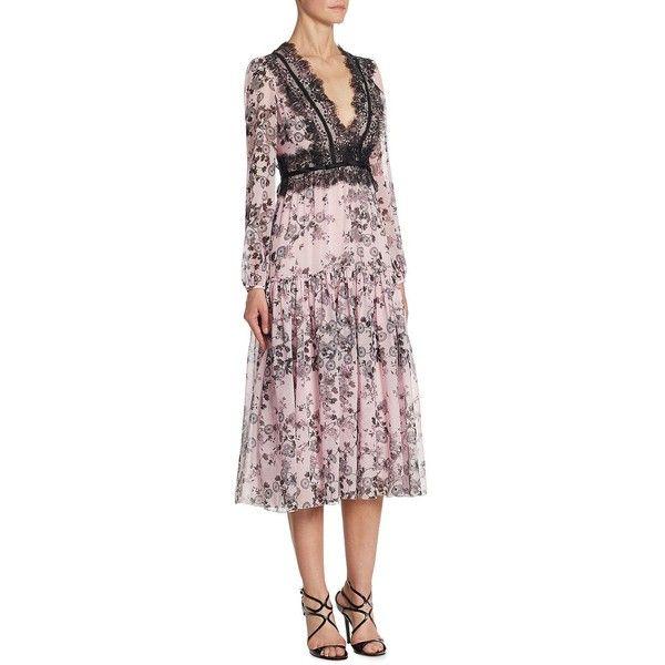 Giambattista Valli Zinnia Silk & Lace Gown (12,670 AED) ❤ liked on ...