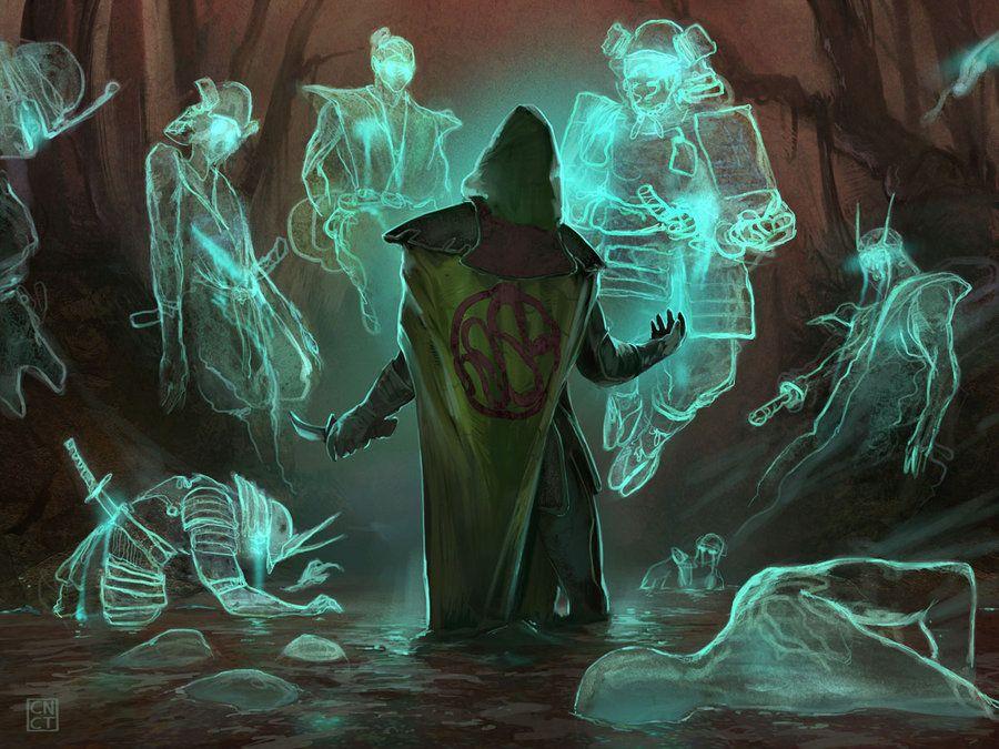 http://fc05.deviantart.net/fs70/i/2011/344/8/d/l5r__summon_swamp_spirits_by_carlosnct-d4ioedt.jpg  | Art, Fantasy art, Fantasy