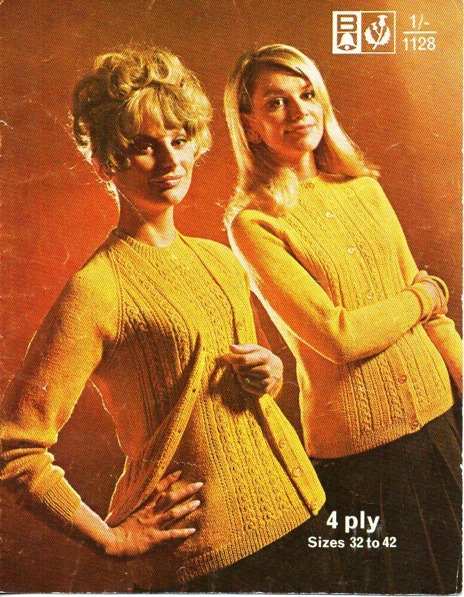 3ce7d187c Vintage womens sweater cardigan twinset knitting pattern pdf ladies ...
