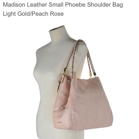 420b948358 Coach Madison Phoebe shoulder bag NWT Coach Phoebe shoulder bag in  peach rose . Get it now for Mothers Day 💐 less on mercari Coach Bags  Shoulder Bags