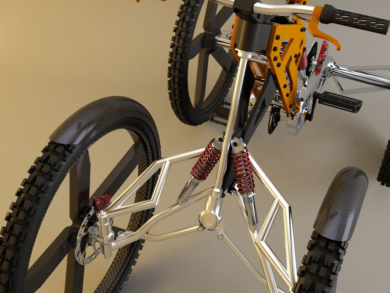 H4 Bicycle I Designed And Built This 4 Wheel Bicycle With