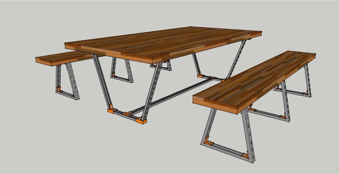 Table Frame Made By Unistrut Youtselt Just Use Only One Simple