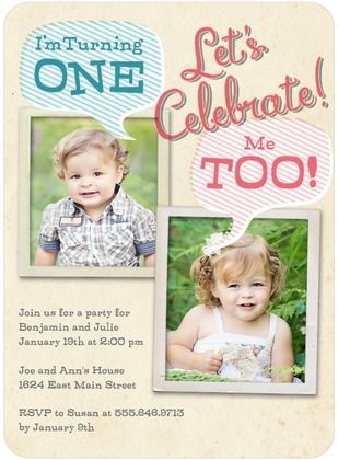 celebrate your twins birthday with this photo birthday party