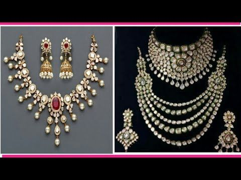 17ab9f966 Latest Broad Uncut Diamond Necklace Set | Malabar Gold and Diamonds -  YouTube