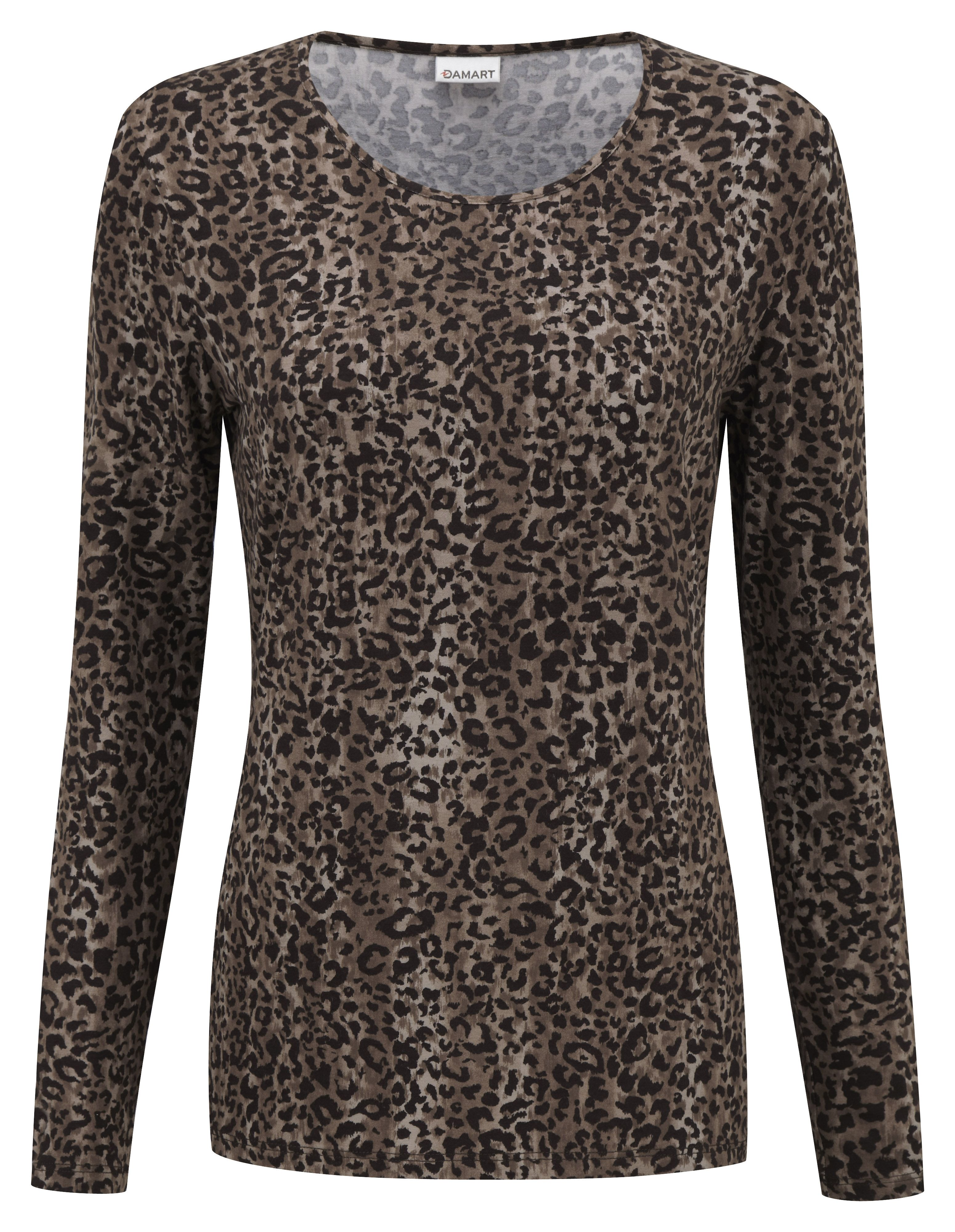famous brand 100% genuine in stock Damart beige printed top, product code B507. www.damart.co ...