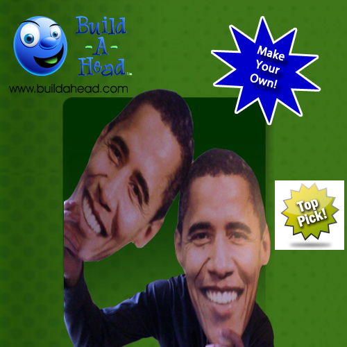 Love the Idea of Obama's face cutout! <3 Face cutout everything at BuildAHead.com.