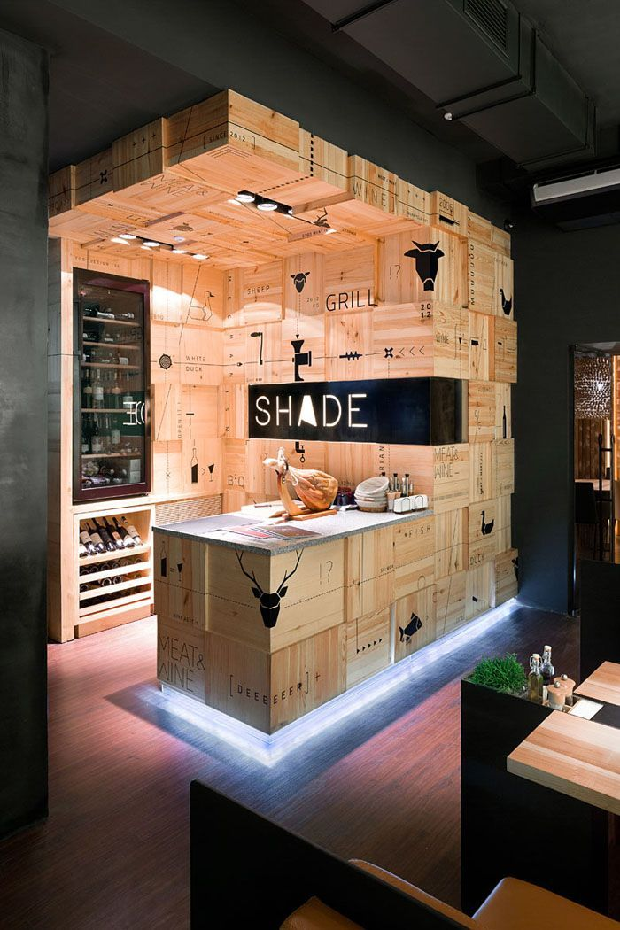 Meat wine bar out of crates ukraine