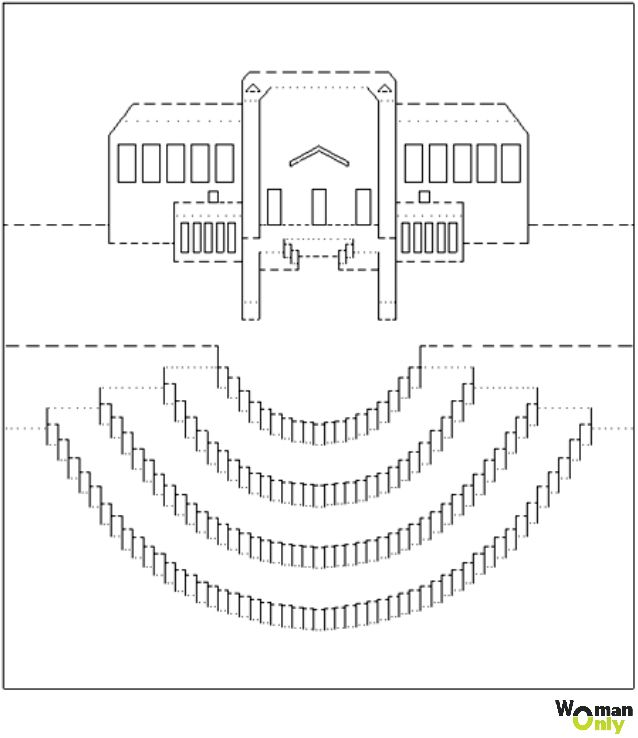 Схема шаблона открытки