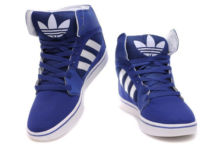 Blue White [Adidas High Tops