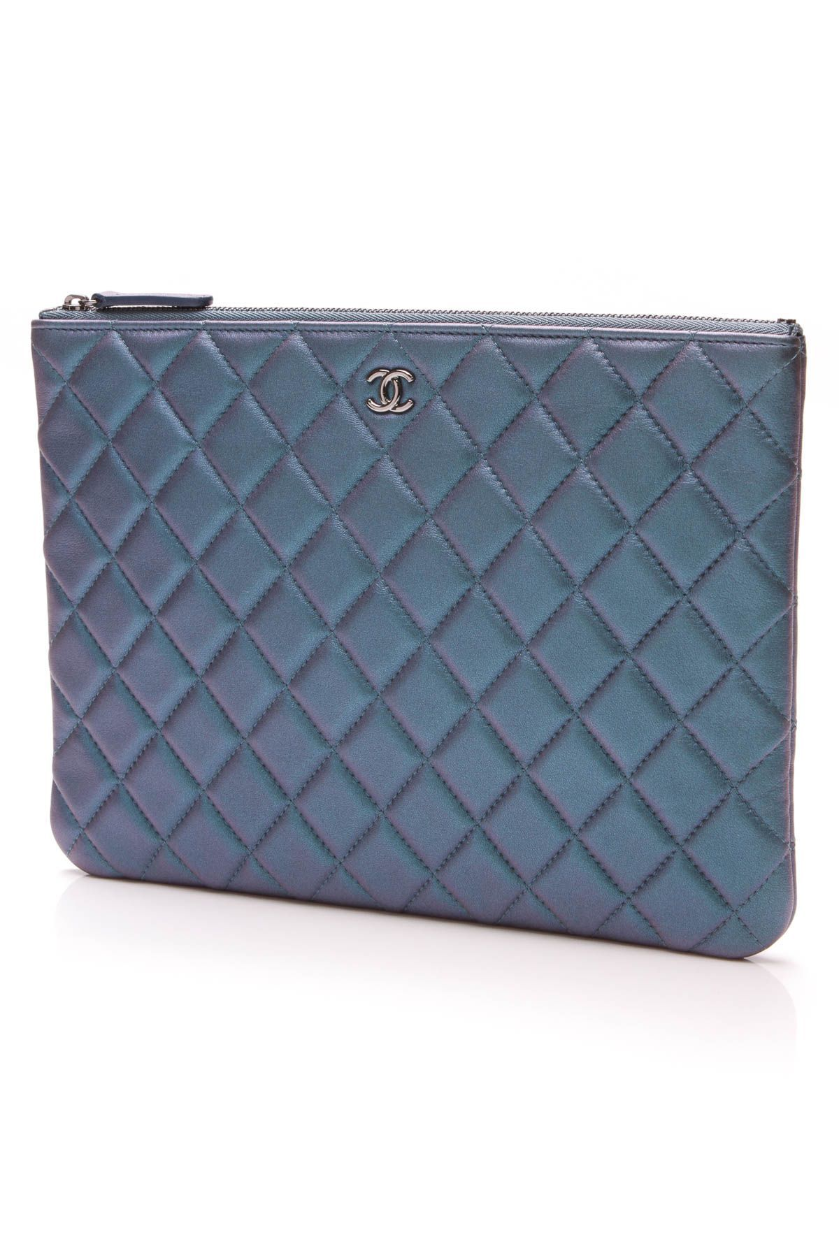 c9f822328502 Chanel Medium O Case Clutch - Blue #clutchesdefine | Handbags in ...