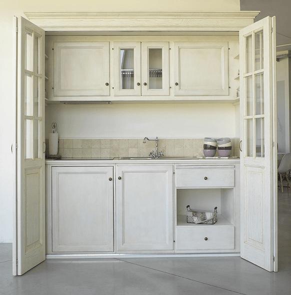 Mini cucine a scomparsa in stile provenzale le info sull 39 azienda kitchen - Cucine armadio a scomparsa ...