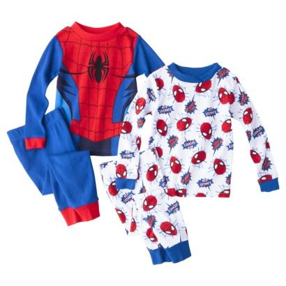Spider-Man Toddler Boys' 4-Piece Long-Sleeve Pajama Set | Stuff ...