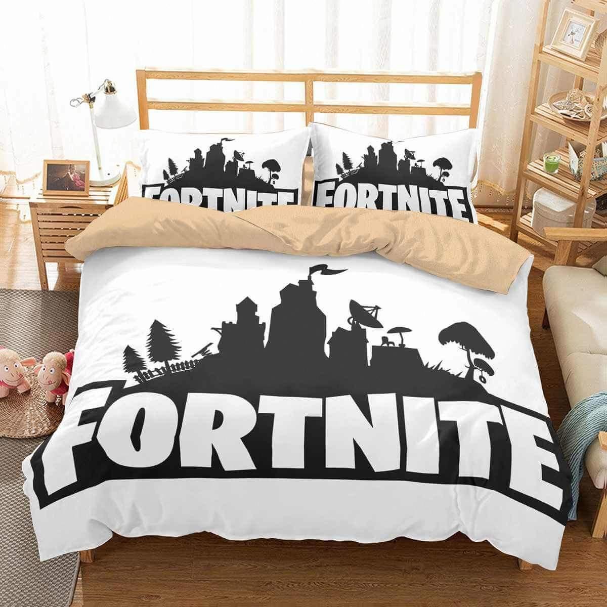 18D Customize Fortnite Bedding Set Duvet Cover Set Bedroom Set