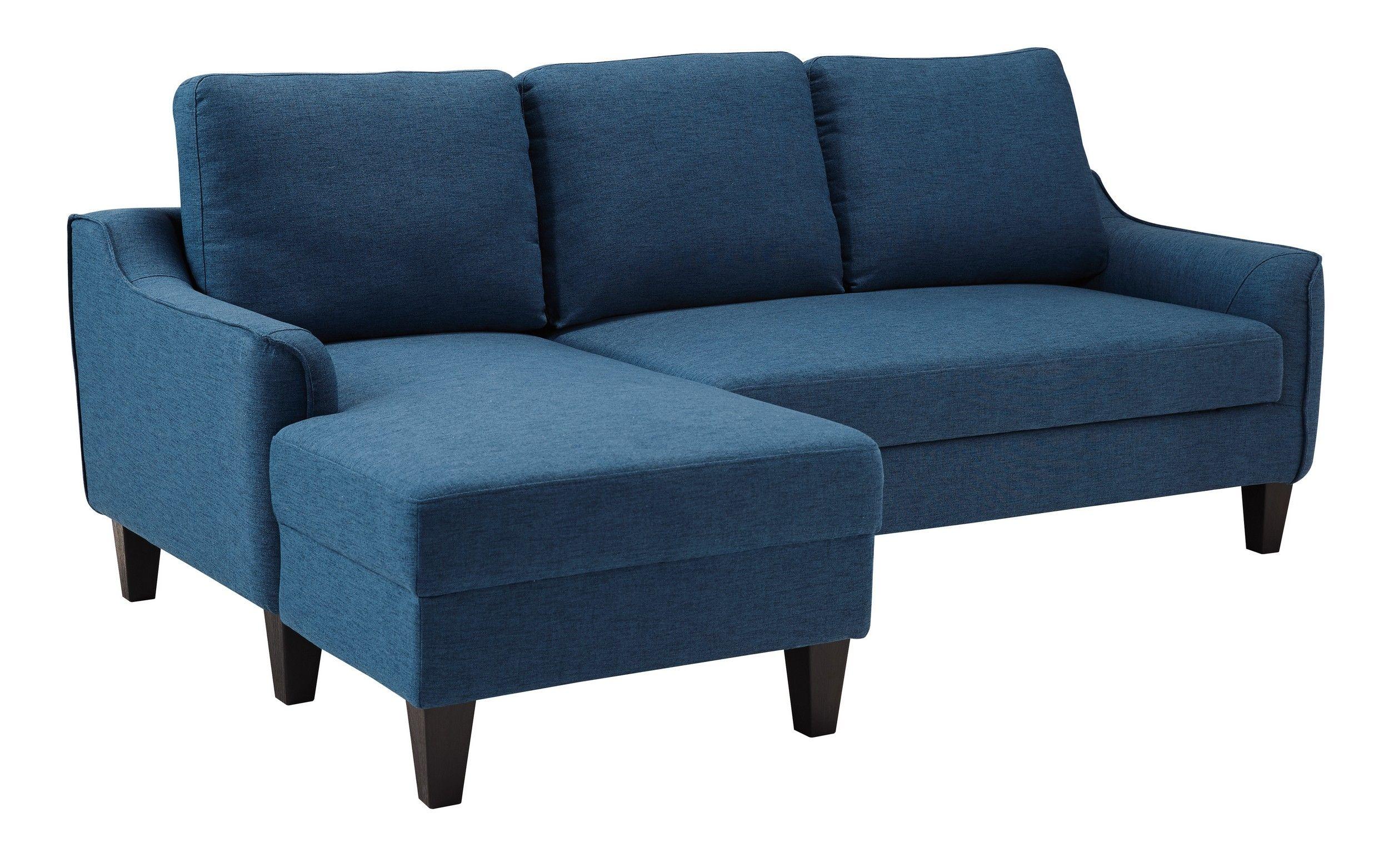 Signature Design By Ashley Jarreau Blue Sleeper Sofa Chaise