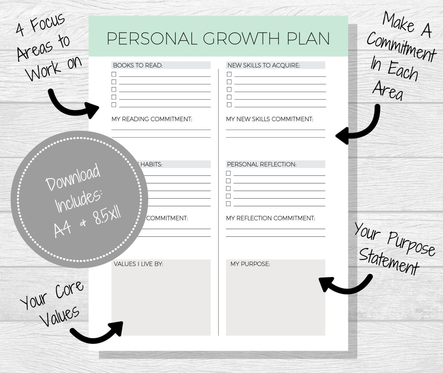 Personal Growth Plan Printable Personal By