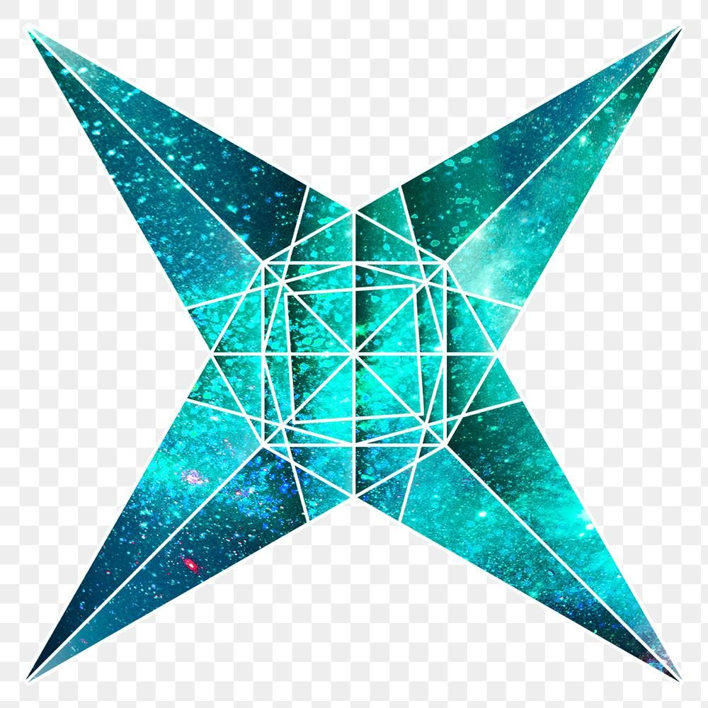 Green Galaxy Patterned Star Shaped Sticker Design Element Free Image By Rawpixel Com Chayanit Galaxy Pattern Sticker Design Green Galaxy